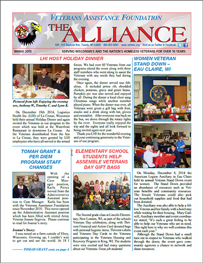 The Alliance Newsletter Fall 2015